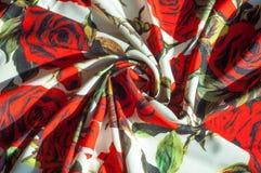 Beschaffenheit, Hintergrund, Muster Stoff-Silk abstraktes Muster Auf Th Lizenzfreies Stockfoto