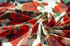 Beschaffenheit, Hintergrund, Muster Stoff-Silk abstraktes Muster Auf Th Lizenzfreie Stockbilder