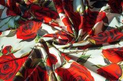 Beschaffenheit, Hintergrund, Muster Stoff-Silk abstraktes Muster Auf Th Stockfotografie