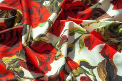Beschaffenheit, Hintergrund, Muster Stoff-Silk abstraktes Muster Auf Th Stockfotos