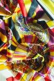 Beschaffenheit, Hintergrund, Muster Stoff-Silk abstraktes Muster exist Lizenzfreie Stockfotografie