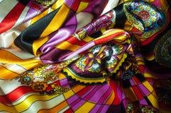 Beschaffenheit, Hintergrund, Muster Stoff-Silk abstraktes Muster exist Lizenzfreies Stockfoto