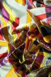 Beschaffenheit, Hintergrund, Muster Stoff-Silk abstraktes Muster exist Stockfotos