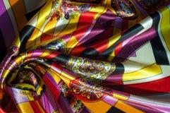 Beschaffenheit, Hintergrund, Muster Stoff-Silk abstraktes Muster exist Lizenzfreies Stockbild