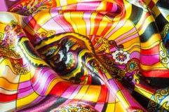 Beschaffenheit, Hintergrund, Muster Stoff-Silk abstraktes Muster exist Stockfotografie