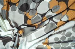 Beschaffenheit, Hintergrund, Muster Stoff-Silk abstraktes Muster Ricketts Waterfall auf Küchen-Nebenfluss ist ein Kaskadenwasserf Stockbilder