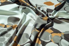 Beschaffenheit, Hintergrund, Muster Stoff-Silk abstraktes Muster Ricketts Waterfall auf Küchen-Nebenfluss ist ein Kaskadenwasserf Lizenzfreies Stockbild