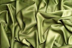 Beschaffenheit, Hintergrund schablone Silk Grün des Stoffes, Crepe de Chine lizenzfreie stockbilder