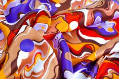 Beschaffenheit, Hintergrund, Seidengewebe eines abstrakten Farbtons Abstr. Stockfotografie