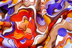 Beschaffenheit, Hintergrund, Seidengewebe eines abstrakten Farbtons Abstr. Lizenzfreie Stockfotos