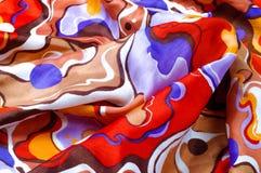 Beschaffenheit, Hintergrund, Seidengewebe eines abstrakten Farbtons Abstr. Stockfoto