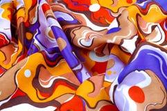 Beschaffenheit, Hintergrund, Seidengewebe eines abstrakten Farbtons Abstr. Lizenzfreies Stockfoto