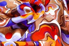 Beschaffenheit, Hintergrund, Seidengewebe eines abstrakten Farbtons Abstr. Lizenzfreies Stockbild
