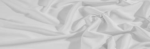 Beschaffenheit Hintergrund Stoff - silk Weiß Empfindliches Design in der Zeit Lizenzfreie Stockfotografie
