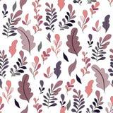 Beschaffenheit mit Blumen und Anlagen Muster 08 Ursprüngliche Blumen stock abbildung