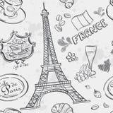Beschaffenheit mit dem Bild des Eiffelturms Lizenzfreie Stockfotografie