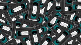 Beschaffenheit, nahtloses Muster von Videokassetten des alten Retro- grauen antiken analogen Hippie-Filmes der Weine für einen Vi vektor abbildung