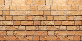 Beschaffenheit orange Schmutz brickwall 3d übertragen vektor abbildung