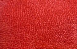 Beschaffenheit - rotes Leder Stockfotos