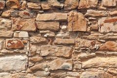 Beschaffenheit - Sandsteinbacksteinmauer Stockfoto