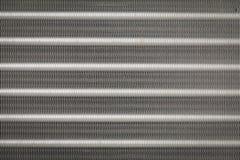 Beschaffenheit und backgroud von Aluminiumflossen Stockbilder