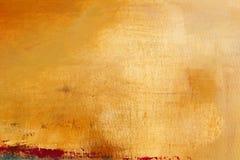 Beschaffenheit und Hintergrund auf Segeltuch, Gelb und Orange Stockfotografie