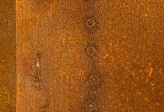 Beschaffenheit verrostete Blechtafeln Stockbilder