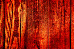 Beschaffenheit von alten hölzernen Planken mit gebrochener und geschmierter Farbe Lizenzfreie Stockfotografie