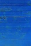 Beschaffenheit von Blau gemalten Brettern Stockbilder