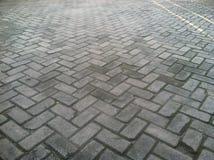 Beschaffenheit von Brown Block-Straße pflasternd Lizenzfreies Stockbild