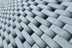 Beschaffenheit von den grauen konkreten Ziegelsteinen. Lizenzfreie Stockfotografie