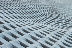 Beschaffenheit von den grauen konkreten Ziegelsteinen. Lizenzfreie Stockfotos