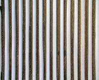 Beschaffenheit von einem Feld mit Spargel unter Folie, Luftfoto Stockbild