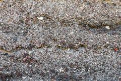 Beschaffenheit von einem mehrfarbigen Stein und von einer Schlacke Lizenzfreies Stockbild
