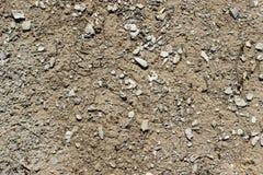 Beschaffenheit von Erde und von Steinen stockfotografie
