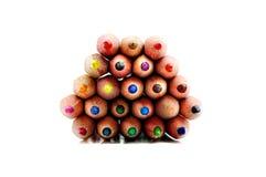 Beschaffenheit von farbigen Bleistiften Stockbilder