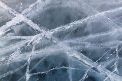 Beschaffenheit von gefrorenem See Lizenzfreie Stockfotos