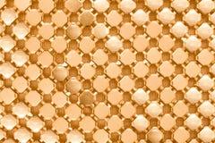 Beschaffenheit von Goldchainmail Stockbilder