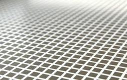 Beschaffenheit von grauen Quadraten und weißen von Linien gesehen in der Diagonale Lizenzfreies Stockfoto