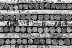 Beschaffenheit von hölzernen Klotz und von Brennholz Stockfotos