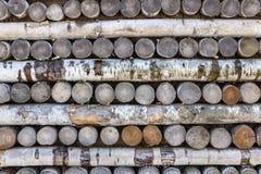 Beschaffenheit von hölzernen Klotz und von Brennholz Stockfotografie