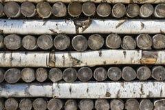 Beschaffenheit von hölzernen Klotz und von Brennholz Lizenzfreie Stockfotos