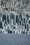 Beschaffenheit von isländischen Steinen, Basaltsäulen Stockbilder