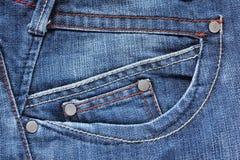 Beschaffenheit von Jeans Stockfotografie