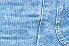 Beschaffenheit von Jeans und von Stich Lizenzfreies Stockbild