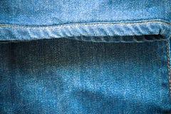 Beschaffenheit von Jeans und von Stich Stockfoto