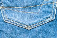 Beschaffenheit von Jeans und von Stich Stockfotografie