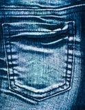 Beschaffenheit von Jeans unterstützen Ansicht Stockbilder