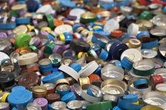 Beschaffenheit von Kappen für Medizinflaschen Stockbilder