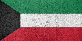 Beschaffenheit von Kuwait-Flagge lizenzfreie stockbilder